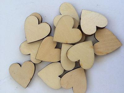WOODEN HEART EMBELLISHMENT - 2cm in Size