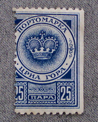"ERROR: Montenegro Perforation Position Fault ""1913 BLUE CROWN"" 25 HAPA  (Used)"