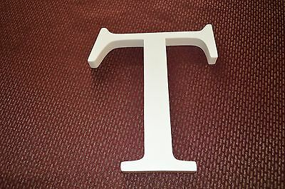"""POTTERY BARN Ivory Wooden Letter """"T"""""""