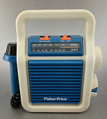 RARE 1984 Quaker Oats Fisher-price Am/fm Radio microphone PORTABLE • Works! ����