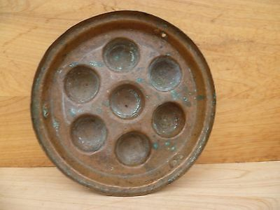 Antique Old Heavy Duty Copper Mould, Pan Kitchenware (A559)