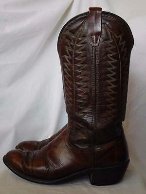 MADE in USA vintage WRANGLER MENS leather WESTERN COWBOY BOOTS 9