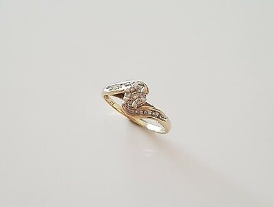 9ct Solid Yellow Gold Genuine Diamond Ring