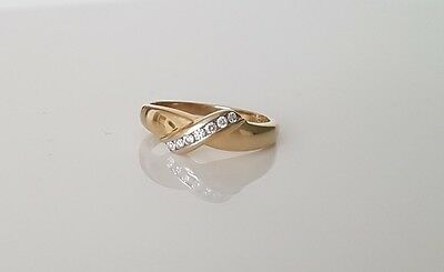 9ct Solid Yellow Gold Diamond 0.10ct Ring