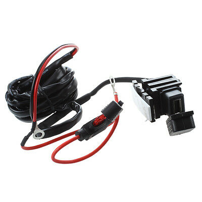 Motorcycle Bike USB Power Supply Port Socket Charger for Cell Phone 12V/24V K5M1