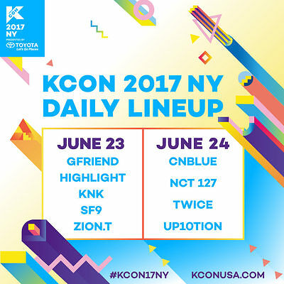 KCON NY 2017 P3 Section:3 Row:18 Seat:5 Day 2 June 24th
