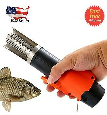 Powerful Electric Fish Skin Scaler Descaler Scraper Knife 1500MA Rechargeable