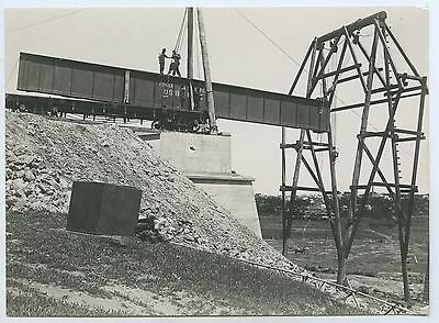 1924 Scarce Photo Railway Bridge Murray Bridge Placing Swamp Span Sth Aust G85