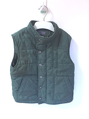 Fred Bare Green Puffer Vest Boys Size 5