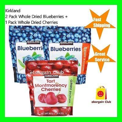 Kirkland Dried Cherries 567g + 2 x Dried Blueberries 567g (Total=1.701kg) eBClub