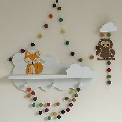 Woodland Felt Ball Garland,Pom Pom,Woodland Nursery Decor,Gender Neutral,Unisex