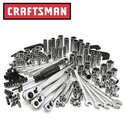 Craftsman 155-Piece Mechanics Tool Set with 75 Tooth Ratchets-53155-NEW