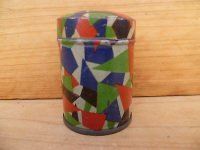 Vintage Old Colorful Design, Small Size Storage Tin, Old Tin (D95)