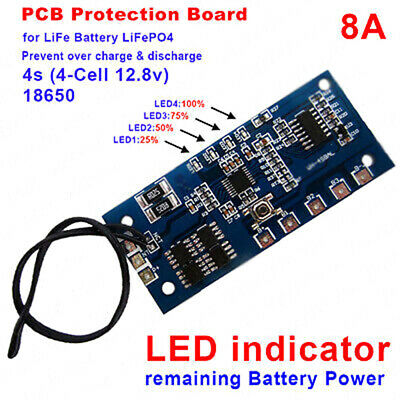 12V 18650 3S Lithium Battery Capacity Indicator Module BMS Board PCB D7P1