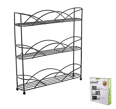 Kitchenista Free Standing Spice and Herb Rack, Universal to fit most Jars
