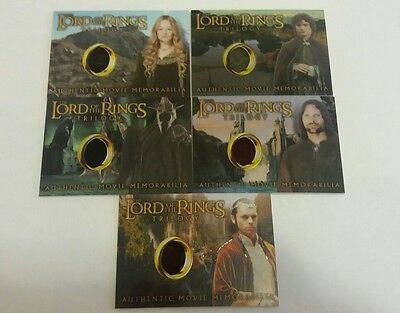 Topps Chrome Lord Of The Rings Trilogy Authentic Movie Memorabilia