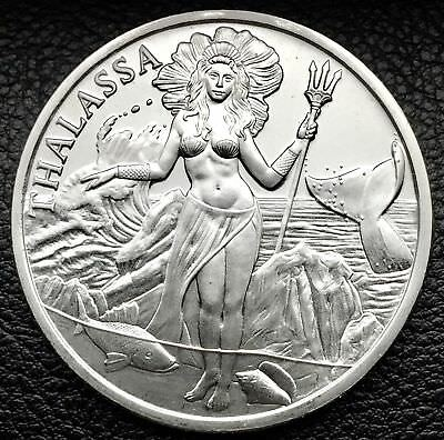 2018 Trident - Thalassa 1 oz .999 Silver BU Round Proof-Like USA Bullion Coin