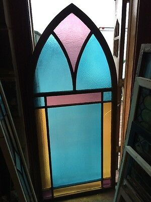Sg 1445 3 Available Price Separate Gothic Arch Stainglass Window 34 X 74.5
