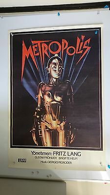 Metropolis Original One Sheet Movie Fiim Poster Very rare