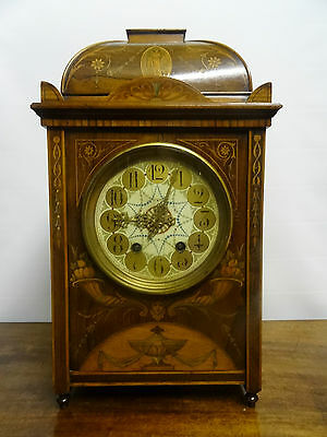 OUTSTANDING 19thc MARQUETRY BRACKET CLOCK - 8 DAY - TALL - THE FINEST QUALITY