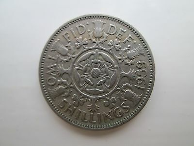 1959 Elizabeth II Florin / Two Shillings Coin