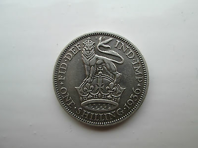 1936 George V Silver Shilling Coin
