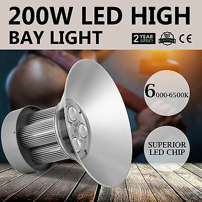 New 200W LED High Bay Light White Lamp Lighting Fixture Top Durable Pro