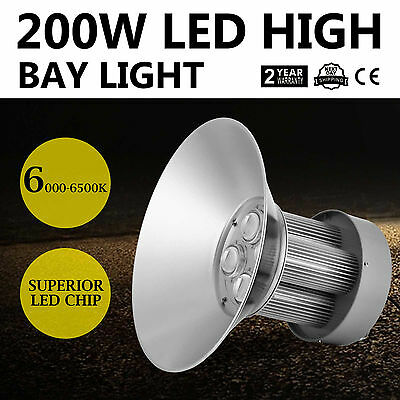 New 200W LED High Bay Light White Lamp Lighting Fixture Heat Sink Commercial