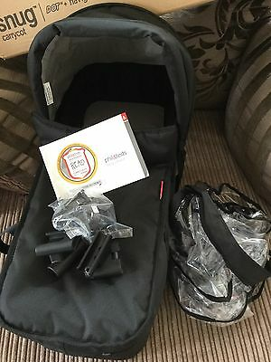 Phil and Teds snug carrycot black boxed