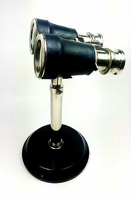 Antique Decorative Binoculars with Tripod stands wood Vintage Library Nautical