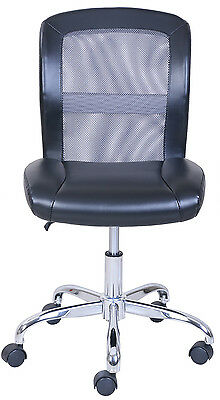 Black/Gray Rolling Task Chair,Office,Desk,Computer,Adjustable Height,Vinyl Mesh