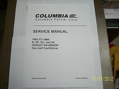 HARLEY DAVIDSON ELECTRIC Golf Cart Manual With Bonus! - $15.99 ... on