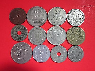 Lot Of 12 Middle Eastern Coins.  Israel, Syria, Lebanon, Etc. All Different.
