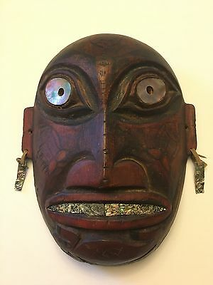 Northwest Coast Wood and Polychrome Native American Mask c.1880-1900