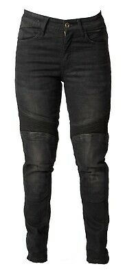Womens Motorcycle Motorbike Ladies SLIM JEANS STRETCH Trousers Protective Lining