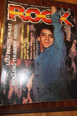 ROCK Music Magazine Jan. 1977 Lou Reed, David Bowie, Queen 100 pages Vol 2 No 1