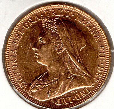 1893 FULL GOLD SOVEREIGN Uncirculated FULL LUSTRE Priced To Sell