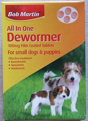 Bob martin Dewormer 1box of 4 tables,for small dogs & puppies up to 8kg