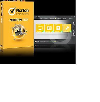 Norton 360 version 2017 antivirus 1yr 1pcs