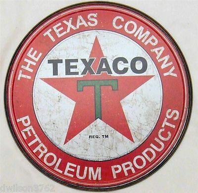 Texaco Motor Oil Can Vintage Picture Poster Tin Ad Sign Gas Filling Station