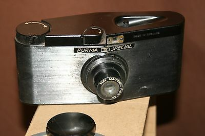 Purma Special - Vintage Roll Film Camera + Case - Good Condition - Fully Working