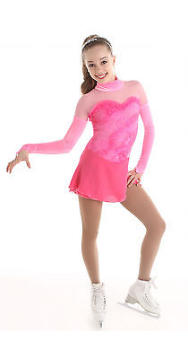 Figure Skating Competition Dress Elite Xpression XP 1533 Pink Child 10-12