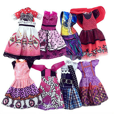 7x Doll Dress For Doll Toy Monster High School Party Costume Clothes
