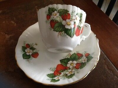 Hammersley & Co. English Bone China Strawberry Ripe Cup & Saucer