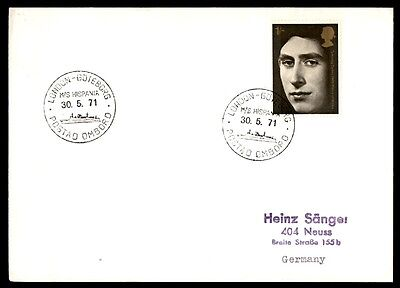 May 30, 1971 MS Hispania London Goteborg ship cover