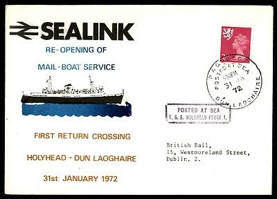 January 31, 1972 Sea Link Holyhead Dun Laoghaire posted at sea cover