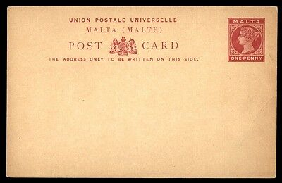 Malta one penny red postal stationery card classic mint