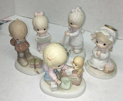 precious moments figurines lot of 5