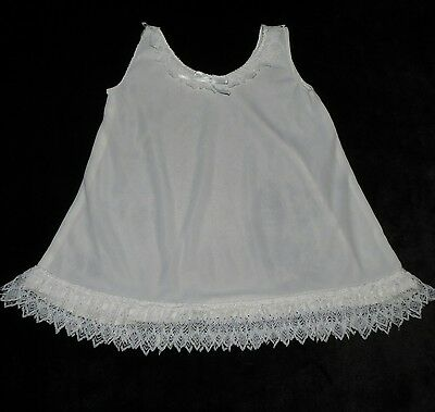 Lovely Little Vintage/antique Baby Slip Exquisite Lace Trim Evc Approx 3-6 M