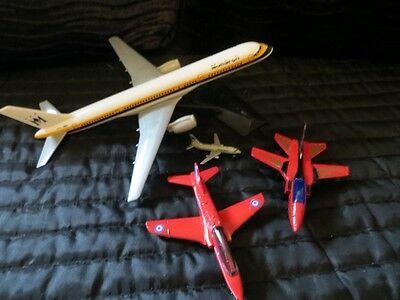 Vintage Monarch 757 plastic model plus 3 other  metal planes BUNDLE